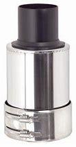Finition PP120/inox collier inclus (diam 125)