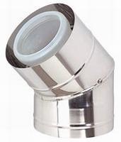 Coude 45° 80/125 PP120/inox