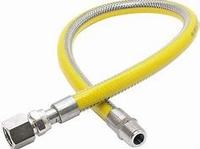 Inox gasflexibel 1/2 x 1000 kvbg gekeurd