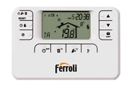 Ferroli thermostat d'ambiance programmable Romeo W RF