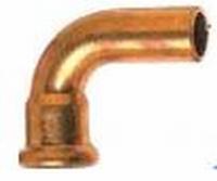 Aquagas pressbocht koper 22 x 22 MF 90°