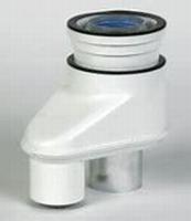 Rolux adapteur  80/80-80/125 alu/mat. synth.