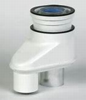 Rolux adapter 80/80-80/125 alu/kunstof