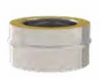 Tampon double paroi 80/130 inox 316/ inox 304