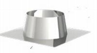 Inox dakdoorvoer 0-5° diam 80/130