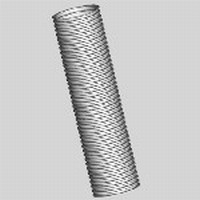 PP120 flexibele buis 80mm per meter (rol = 50m)