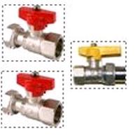 Set afsluitkranen gaswandketel (2 x cv, 1 x gaskraan)