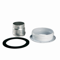 Rookgasadapter voor verticale coaxiale buis diam. 100/60 mm