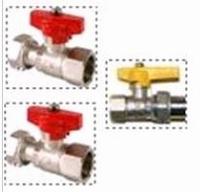 Set afsluitkranen gaswandketel RRT (2x cv, 1x gaskraan)